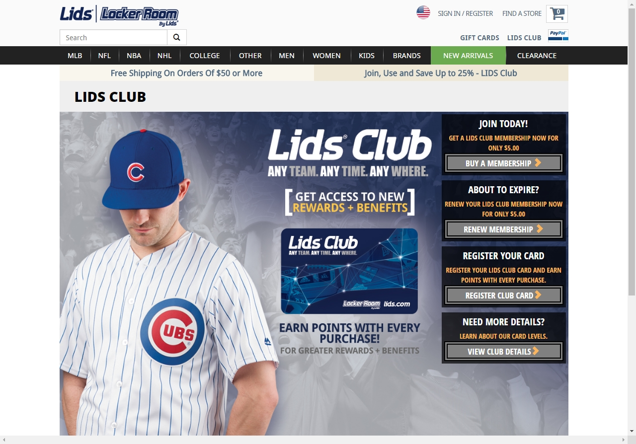 Lids discount coupon