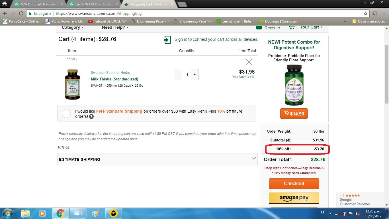 Swanson vitamins coupon code