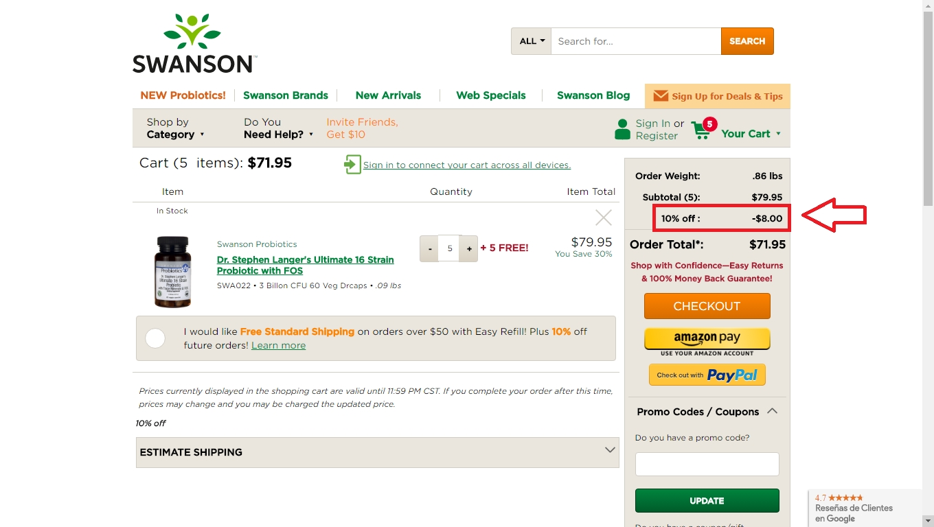 Swanson health products coupons