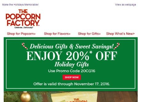 Popcorn factory online coupon codes