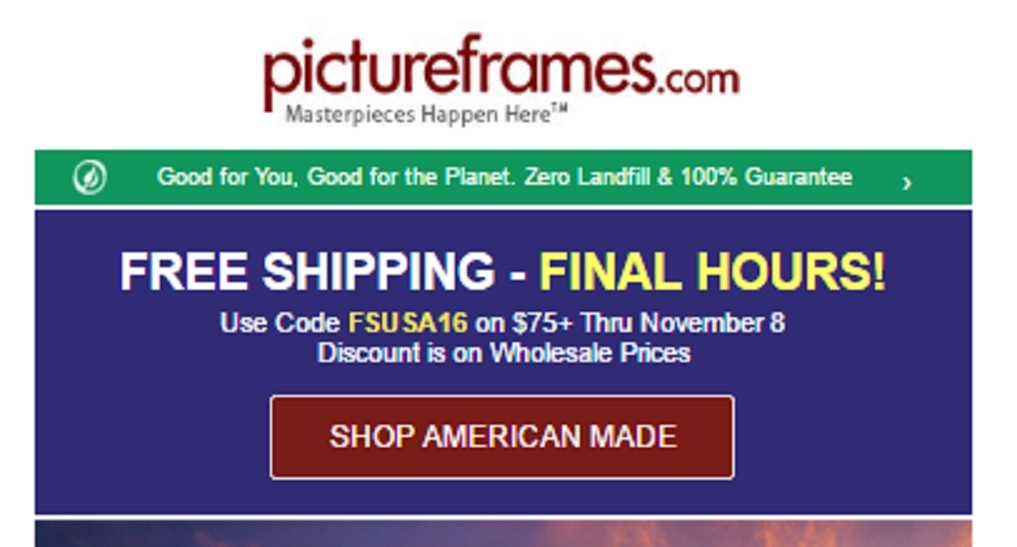 Pictureframes com coupon code