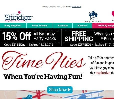 Shindigz coupon code