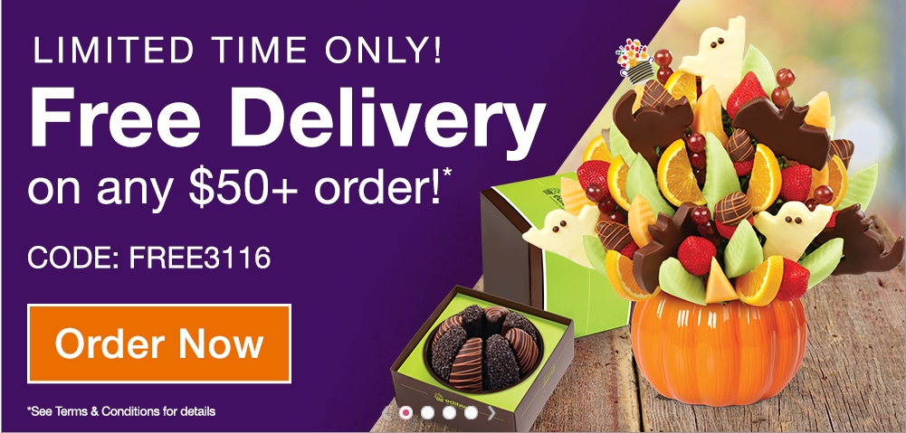 Edible Arrangements also sells themed edible table arrangements, for holidays like Christmas, Valentine's Day and Mother's Day and even birthdays. Edible Arrangements promo codes let you enjoy deliciously low prices on edible table arrangements, including: Classic arrangements featuring fruits like pineapple, cantaloupe, and strawberries.