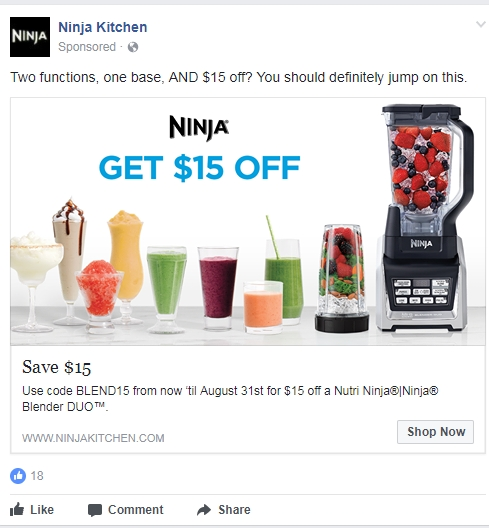 20 Off Ninja Kitchen Coupon Code 2017 Promo Code Dealspotr