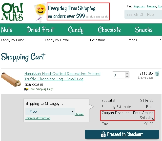 Oh nuts coupon code