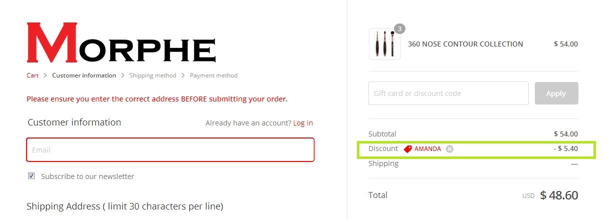 Morphe brush coupon code