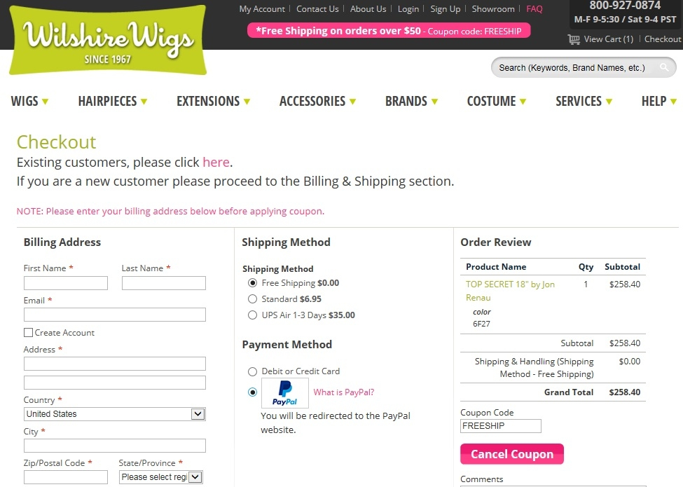 Wilshire Wigs Coupons 31