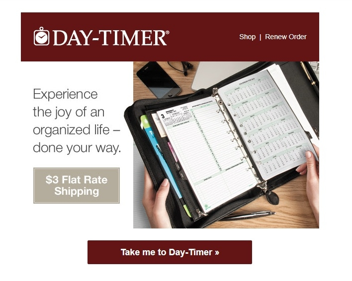 Daytimer discount coupons