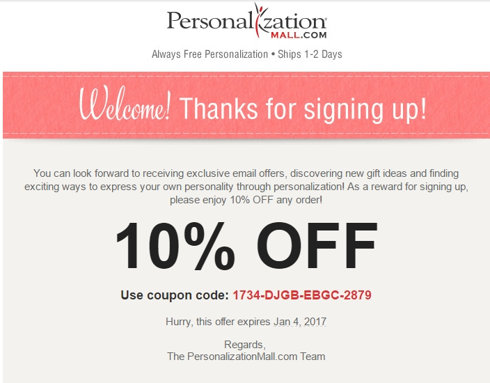 Personalizationmall com coupon code