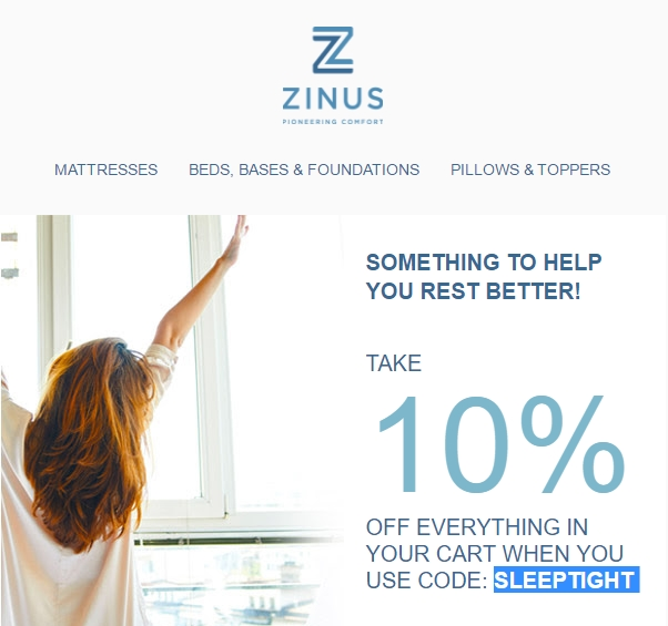 Zinus coupon code