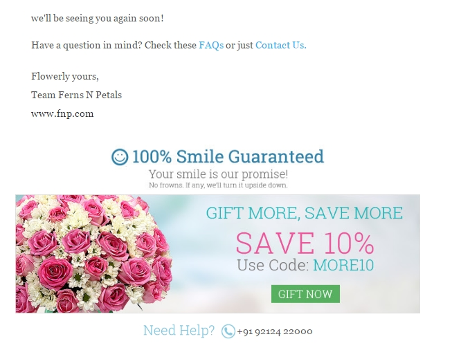 Ferns n petals discount coupons