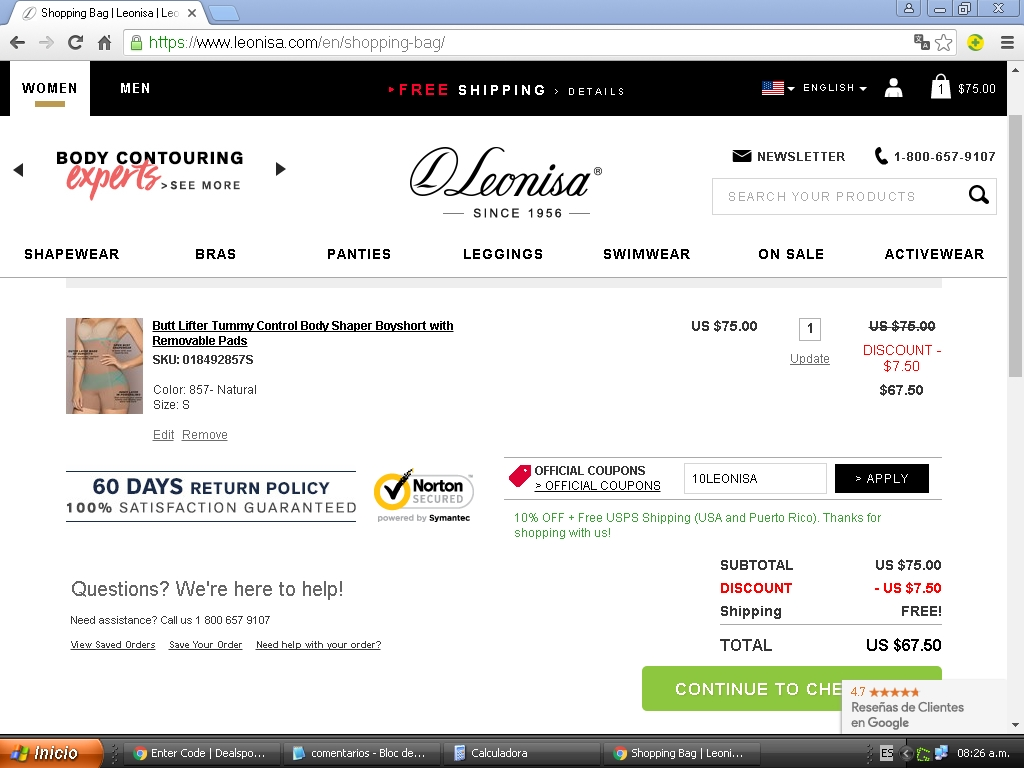 Leonisa coupon code