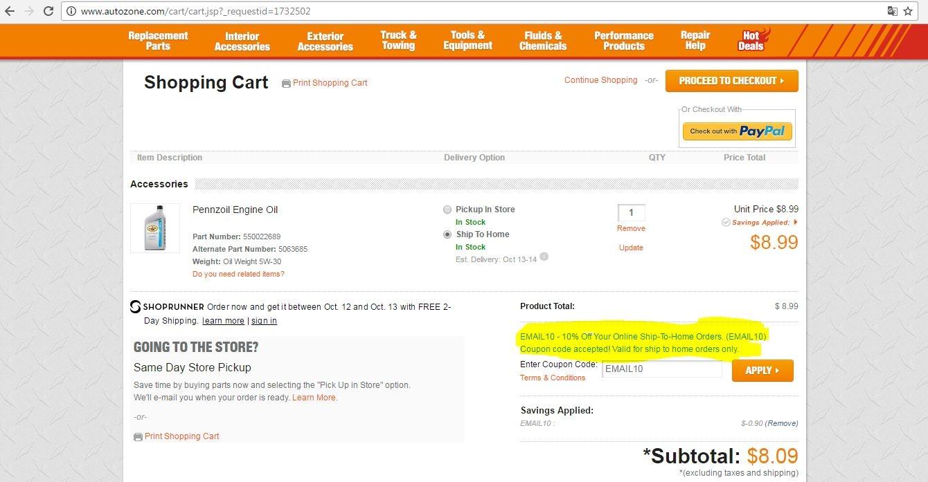Autozone parts coupons : Best buy appliances clearance