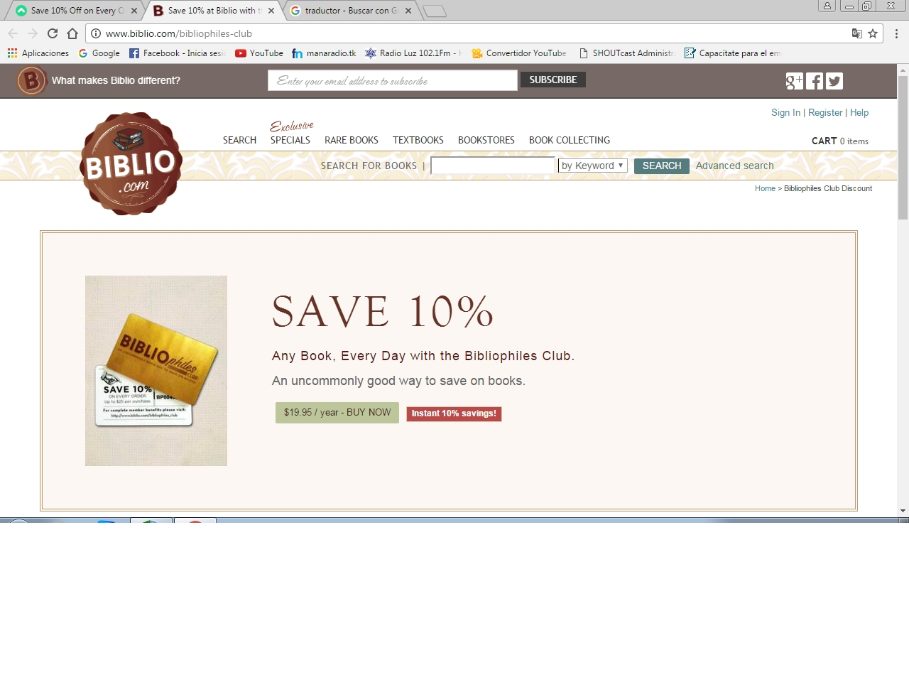 Biblio discount coupons