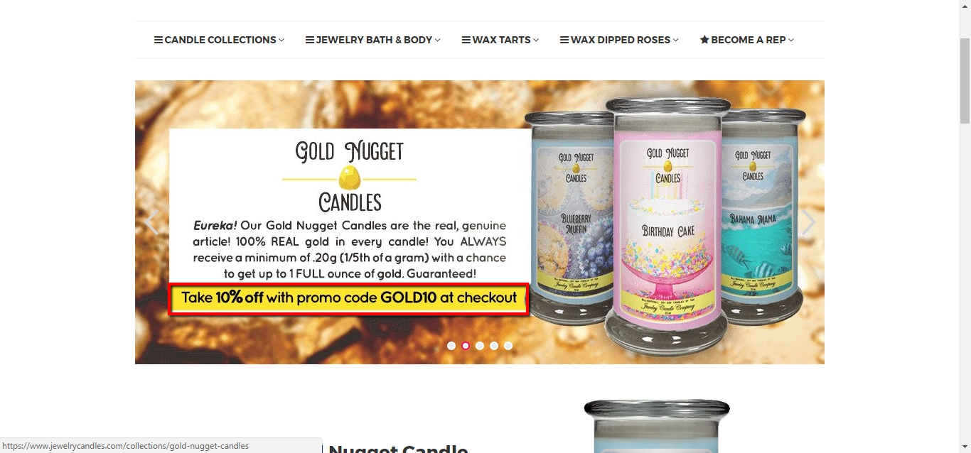 40 jewelry candles coupon code 2017 screenshot