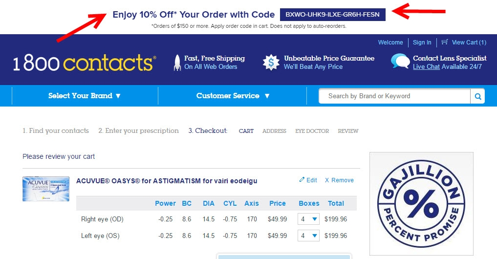 1800 Contacts Coupon Codes  RetailMeNotcom