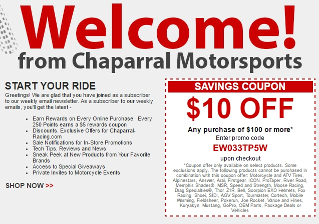 Chaparral discount coupons