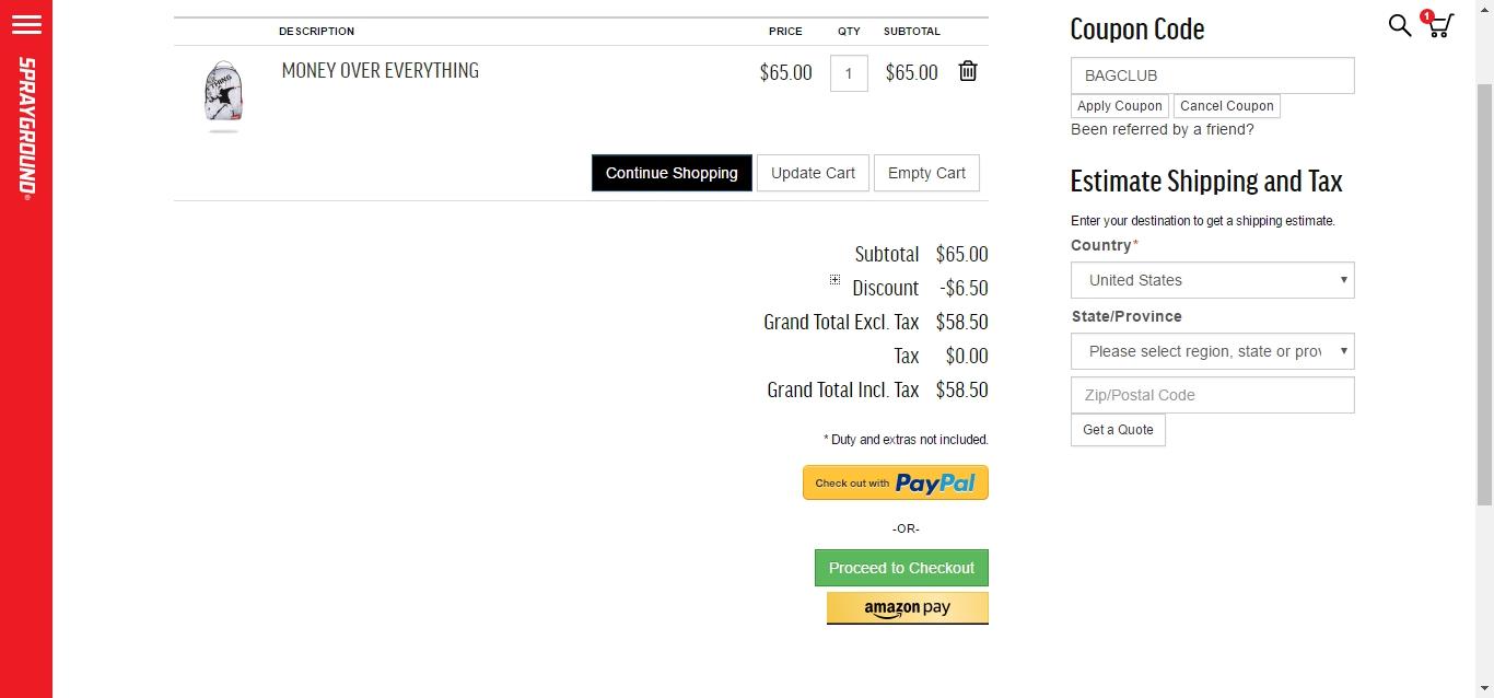 Sprayground coupon code