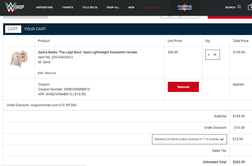 Wweshop coupon code