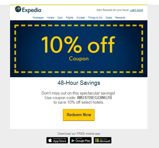Expedia coupon code 2018