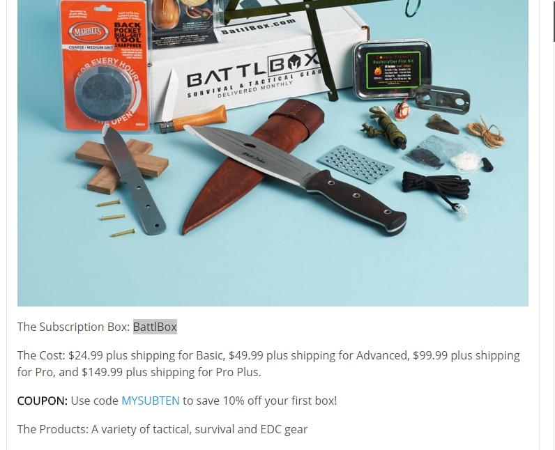 Battlbox coupon code
