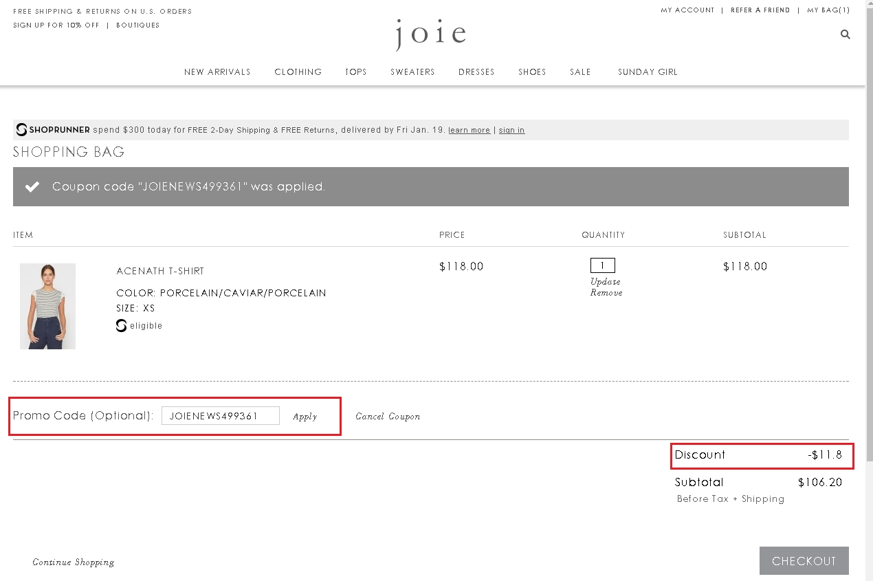 Joie coupon code