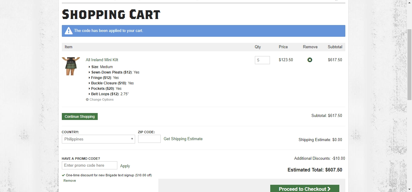 Sport kilt coupon code discount