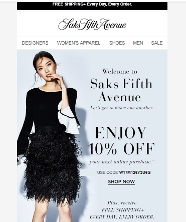 In Saks Fifth Avenue Coupons & Promo Codes store We have put great efforts to gather all sort of amazing latest deals with mega discounts and sometimes you will also get special offers that can help to save more than money. Time to time Online Stores may offer free shipping with no minimum order or with promo code, adding accordingly.