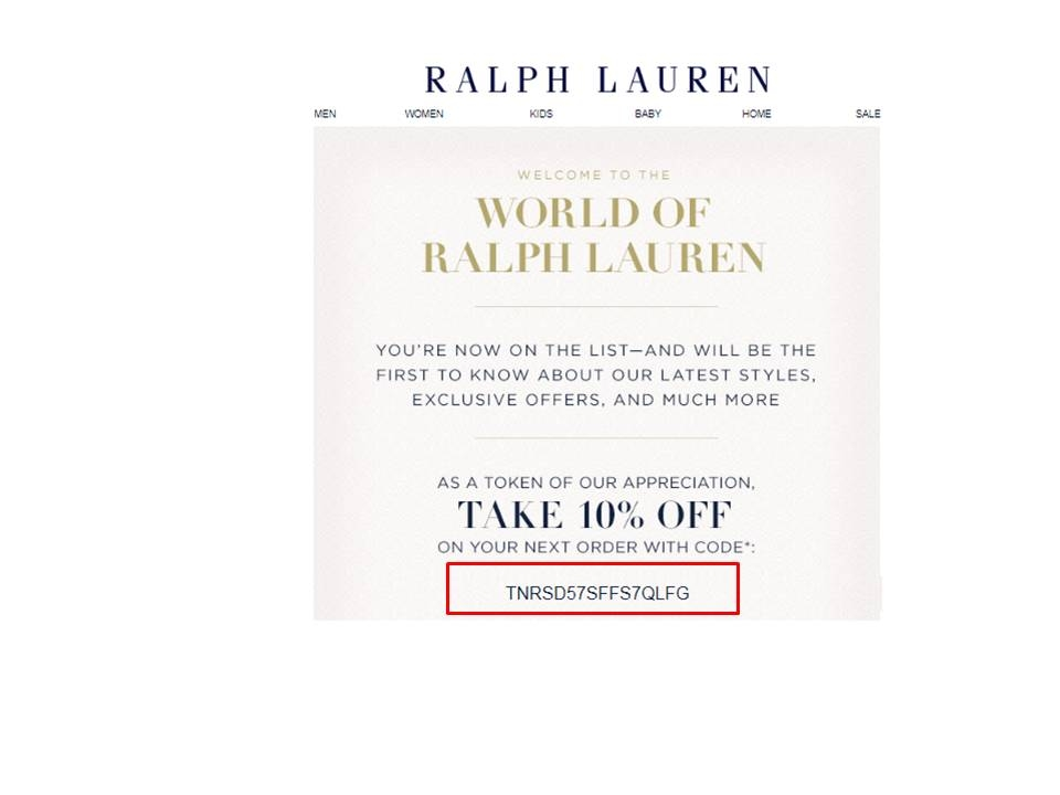 Ralph lauren outlet coupon may 2018