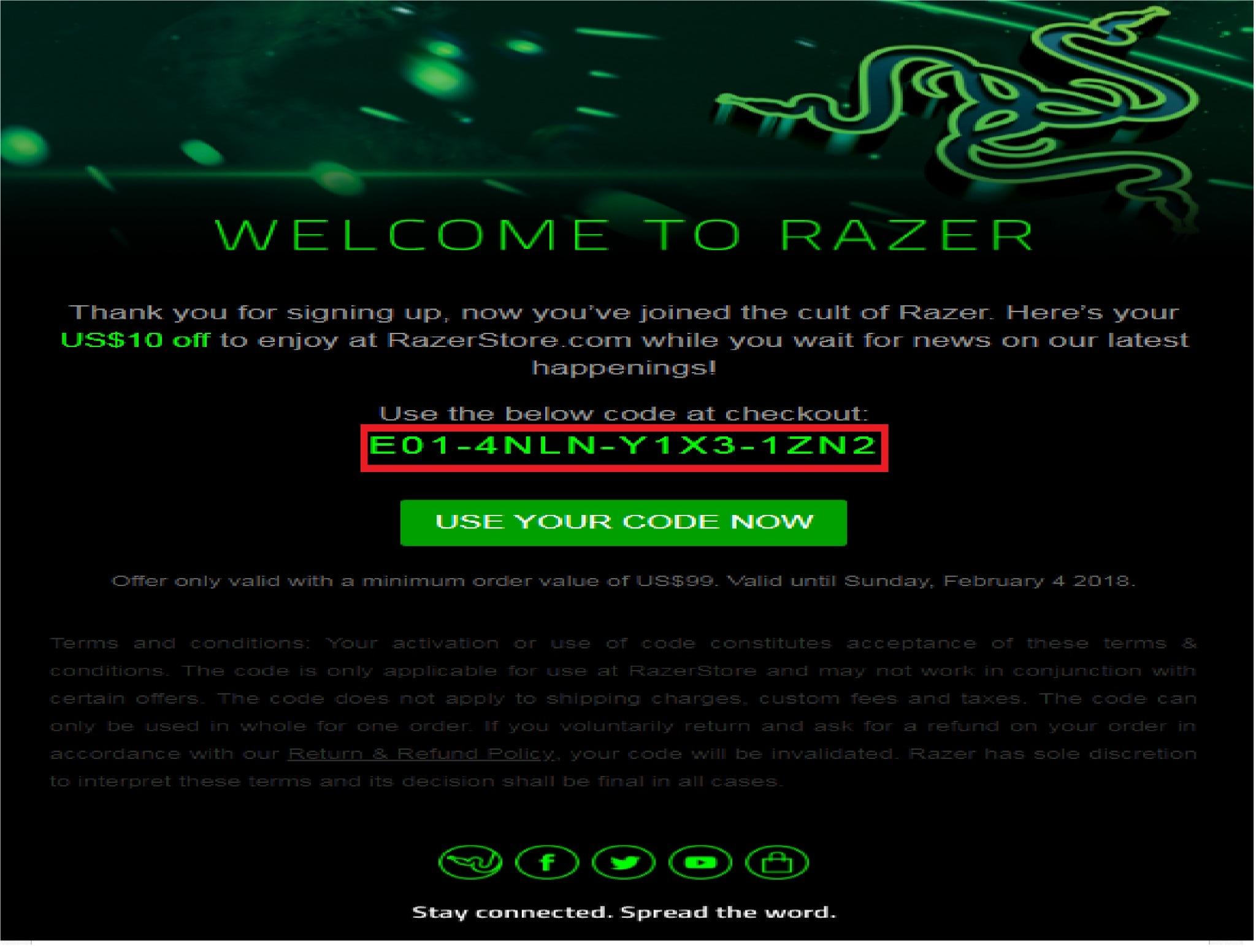Razer coupons