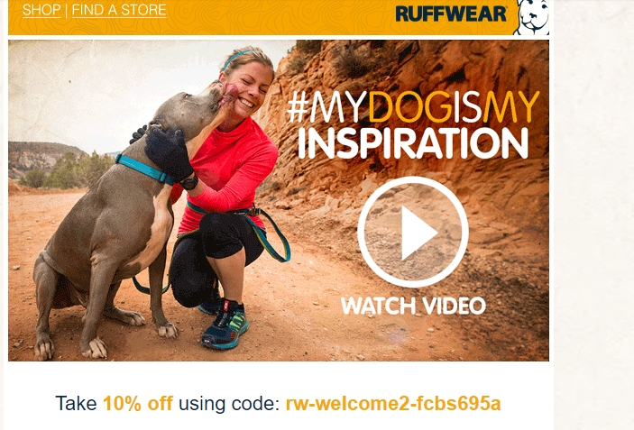 Ruffwear Promo Codes & Coupons Follow. Shop Now All Coupons Deals Free Shipping. Verified Only. Free shipping code. Free Shipping on Any Order Shop Ruff Wear Collections Get deal 25% off expired. Cyber Monday: 25% Off + Free Shipping $+ Get deal 10% off expired. 10% Off on Entire Order.