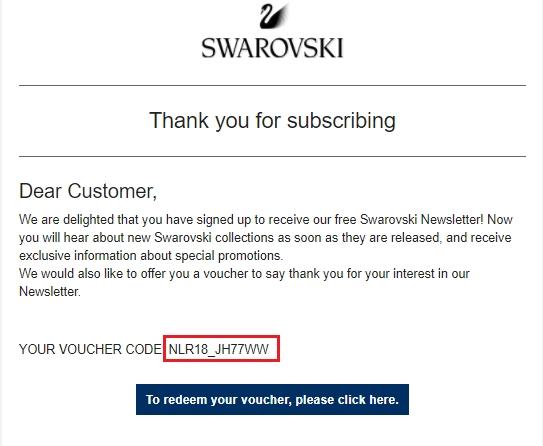 Swarovski coupon code
