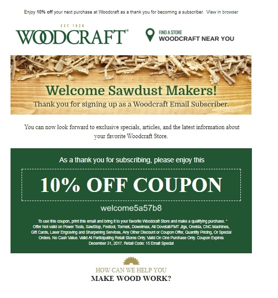 Discounts average $11 off with a Woodcraft promo code or coupon. 50 Woodcraft Sign Up and Save · Save Anytime, Anywhere · Verified Offers · Browse Today's Best Deals.