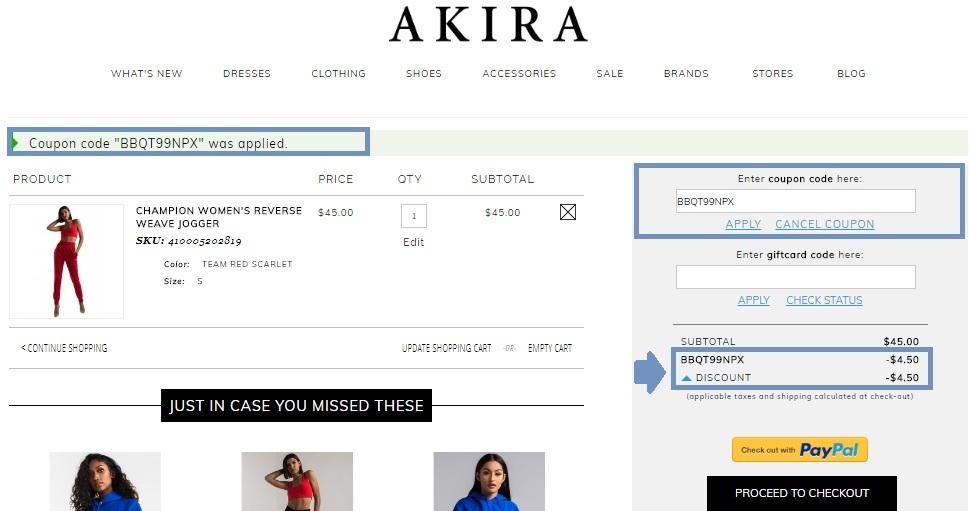 Shopakira coupon code