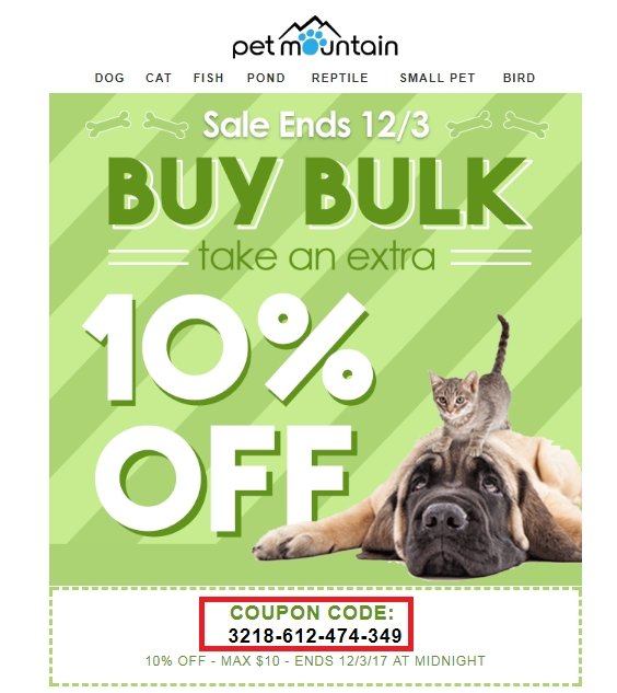 Petmountain coupon code