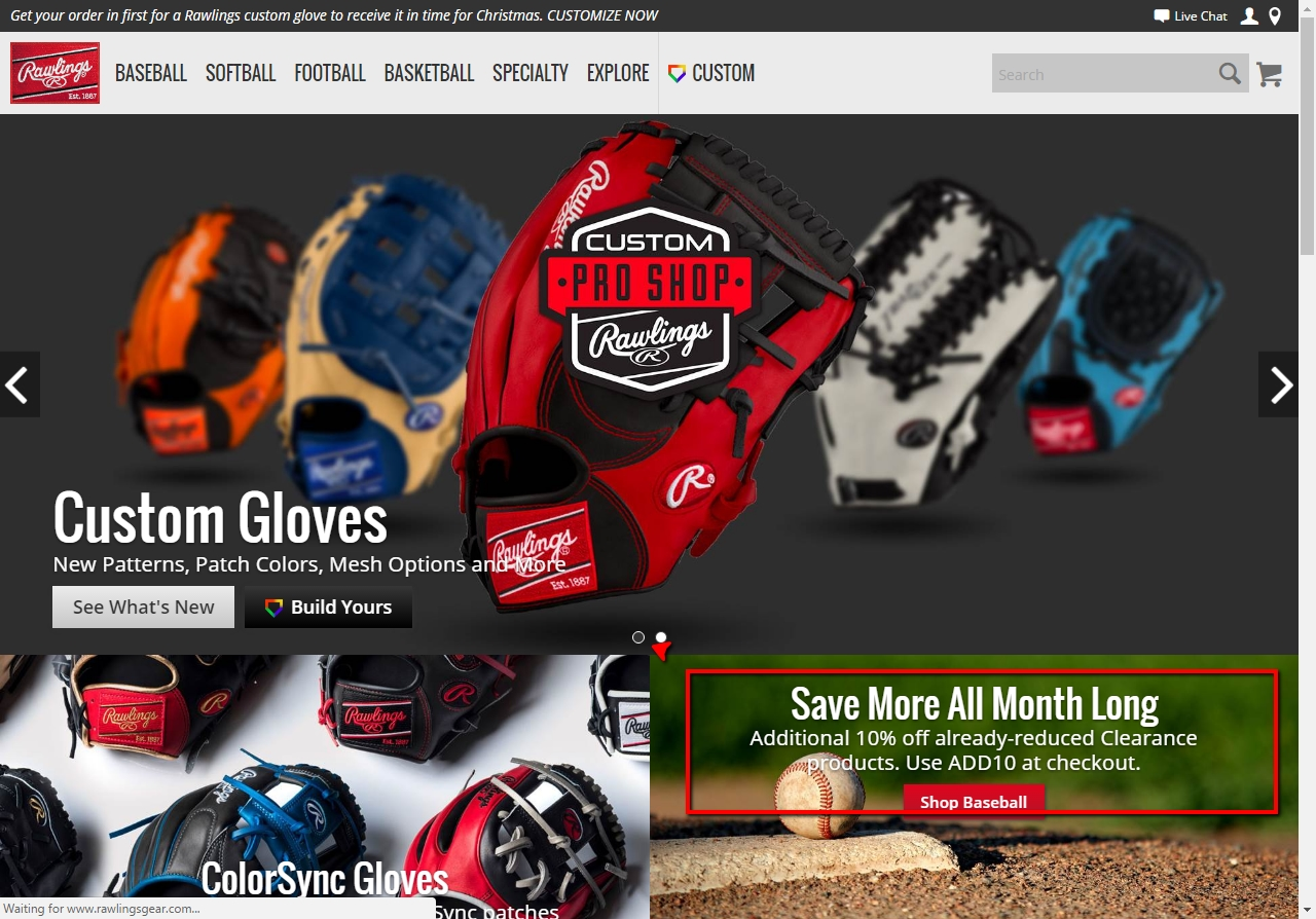 Rawlings coupon code