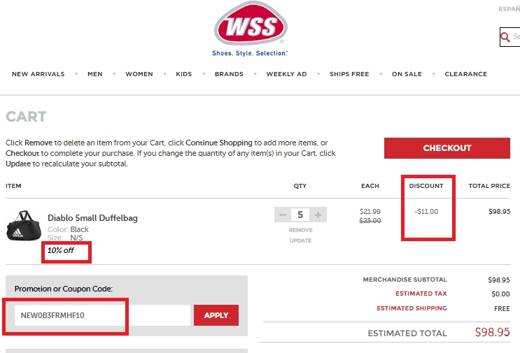 Wss coupons in store 2019