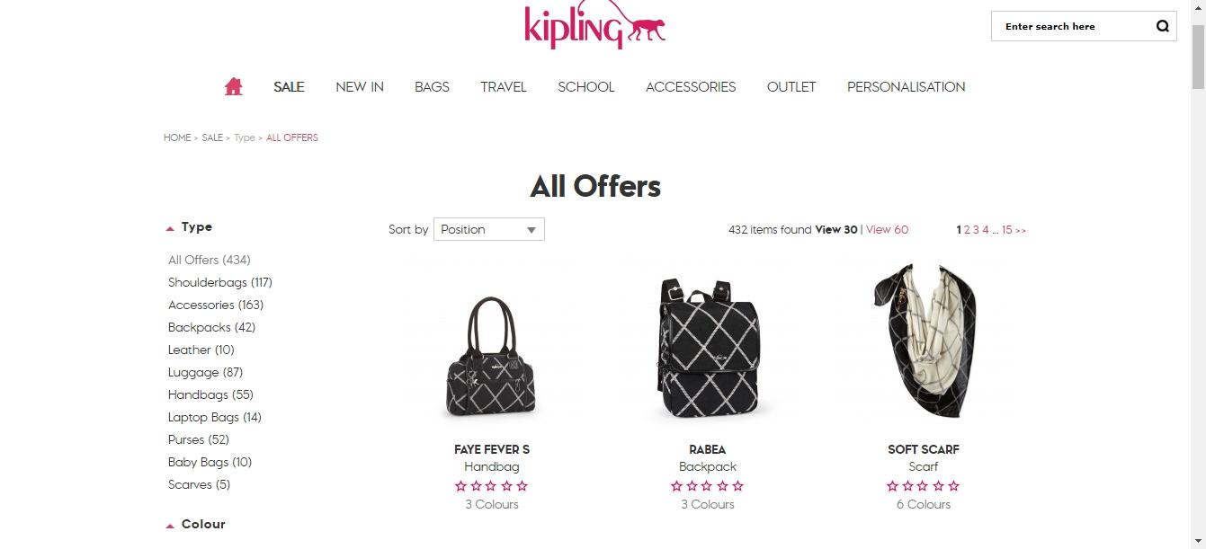 Kipling coupon code