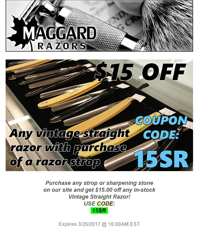 Find Maggard Razors coupon code on this page. When you click