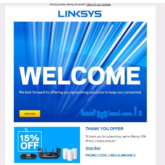 Amazon linksys coupon