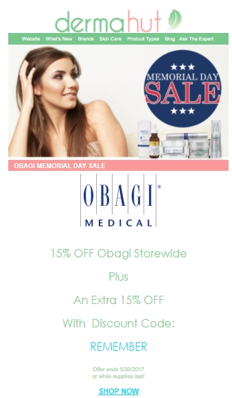 Obagi discount store coupon codes