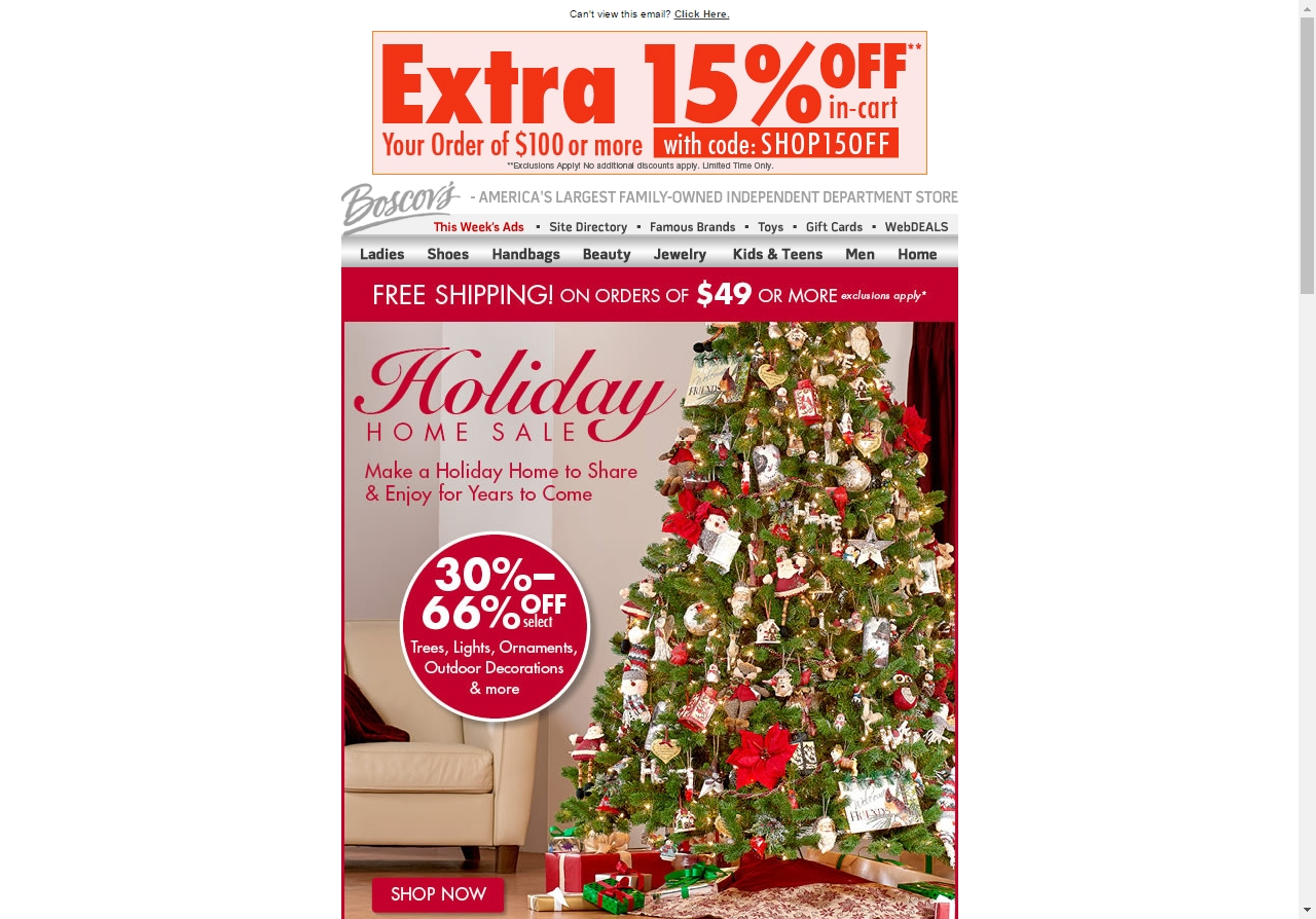 Boscov's discount coupons