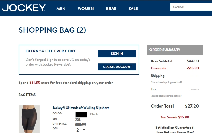 Jockey coupons online