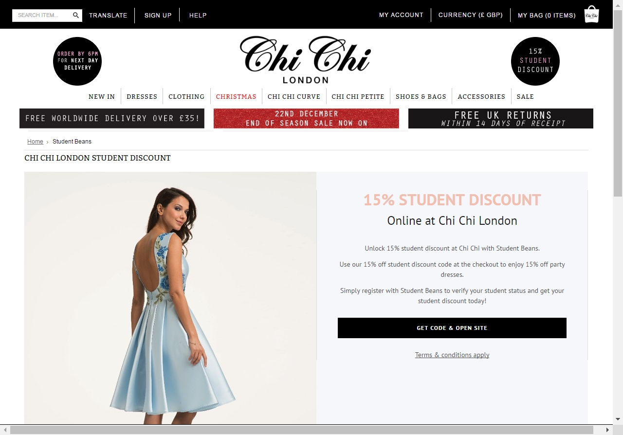 Clothing discount coupons