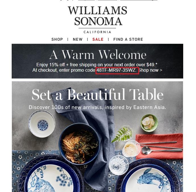 Williams sonoma coupon printable 2018