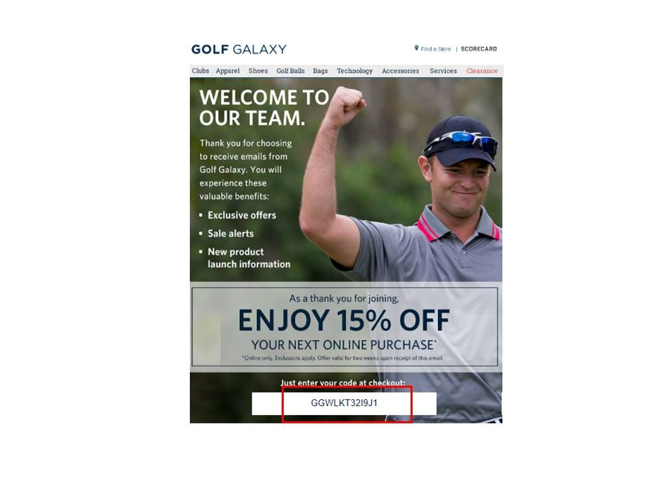 Golf galaxy coupon code 2018