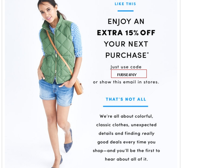 J crew factory coupon codes 2018