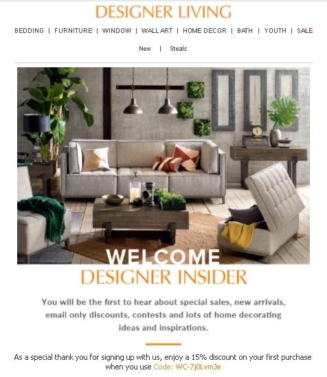 Designer living coupon code