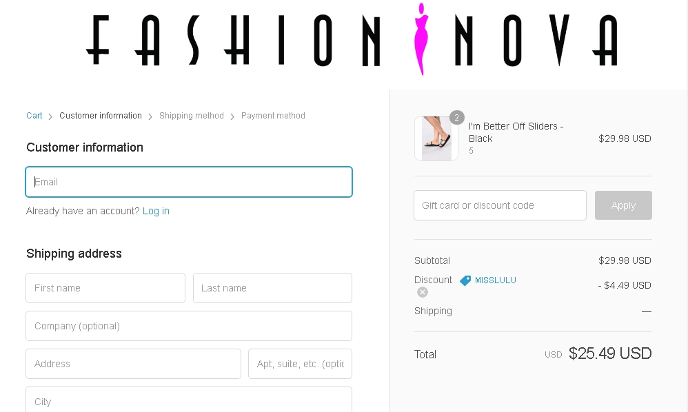 Fashion and you discount coupon code