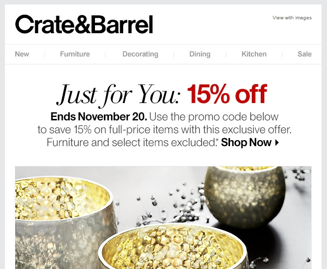 Promo code crate and barrel coupon code